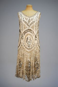 Sequined Evening Dress and Jacket, ca. 1920s  via Whitaker Auctions