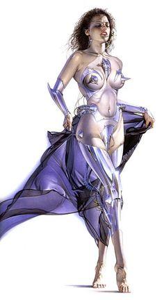 Erotic Art by Hajime Sorayama ( ) работ) (эротика) Sci Fi Fantasy, Fantasy Girl, Museum, Dark Elf, Sci Fi Characters, Japan, Retro Futurism, Erotic Art, Top Artists