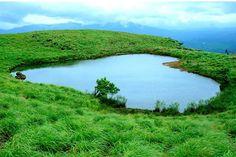 The Love Lake on Chembra peak in Wayanad, Kerala