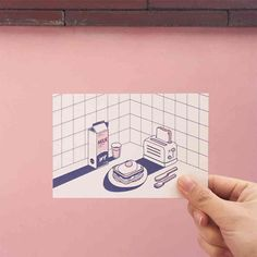 SALUT 엽서 Graphic Design Illustration, Illustration Art, Isometric Design, Dibujos Cute, Aesthetic Drawing, Postcard Design, Posca, Art Sketchbook, Graphic Design Inspiration