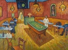 The all night cafe 1888 by vincent van gogh - art gallery oil painting reproductions Canvas Paintings For Sale, Oil Painting For Sale, Animal Paintings, Oil Paintings, Van Gogh Art, Art Van, Oil Painting Reproductions, Classical Art, Museum Of Modern Art