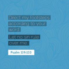 Psalm 119:133 #AudaciousVerse #Bible #Verse