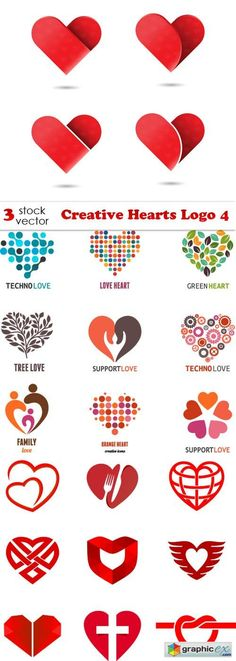 Creative Hearts Logo 4  stock images