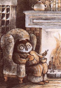 owl - vintage-illustration by e-liza