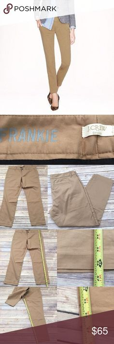 Size 14 J. Crew Frankie Chino Khaki Skinny Pants Measurements are in photos. Normal wash wear, no flaws. D3/27  I do not comment to my buyers after purchases, due to their privacy. If you would like any reassurance after your purchase that I did receive your order, please feel free to comment on the listing and I will promptly respond. I ship everyday and I always package safely. Thanks! J. Crew Pants Skinny