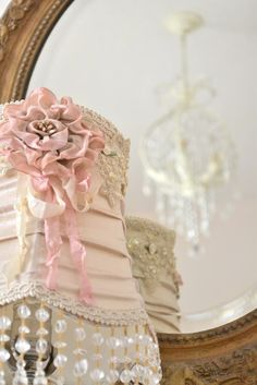 DIY Lampshade..  I have the perfect lampshade just waiting for me to make her this beautiful!