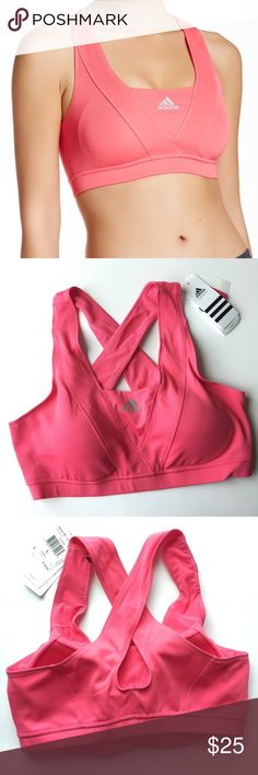 Adidas Nova Sport Bra 🌷Please Read the description! Thanks!🌷  Brand new with tag Size: M, L Retail: $35 X-straps forms a cutout back on a topstitched sports bra with padded cups. Non-movable Padding  Color may be slightly different bcz of lighting  🌷Price is FIRM unless bundled 🌷NO Trades         🌷NO Holds 🌷All sales are final Welcome product-related questions! You are responsible for your size. Adidas Intimates & Sleepwear Bras