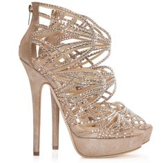 61d44adfeb15 Jimmy Choo - Damek beige suede and crystal embellished sandals - Cricket  Fashion Boutique UK