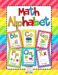 Freebie- Math Alphabet Posters as seen on Third Grade Troop  www.thirdgradetroop.com