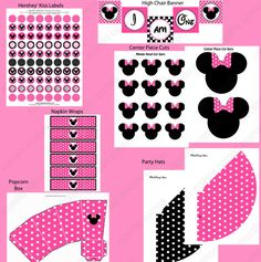 MINNIE MOUSE PINK DELUXE PRINTABLE BIRTHDAY PACKAGE