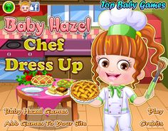 Dress up and style Baby Hazel in trendiest outfits and accessories to give her an awesome chef makeover http://www.topbabygames.com/baby-hazel-chef-dressup.html