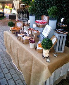 Candy Table, Candy Buffet, Dessert Buffet, Dessert Bars, Candy Party, Snack Bar, Wedding Desserts, Wedding Catering, Sweet 16