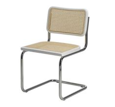 Marcel Breuer Cesca Cane Side Chair in Honey Oak w/ Chrome Finish Made in Italy Mod Furniture, Furniture Dolly, Classic Furniture, Cheap Furniture, Discount Furniture, Vintage Furniture, Bedroom Furniture, Furniture Stores, Furniture Ideas