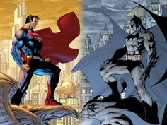 Superman y Batman, Dibujos Animados, imágenes para wallpapers
