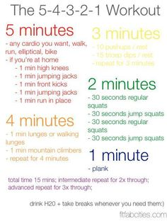 workout idea?