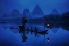 cormorant fisherman, guangxi #china #nights