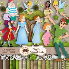 Kit Scrapbook Digital - Peter Pan