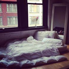 i kinda miss having a bed on the floor.