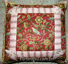 by CarolMika Arterapia  Patchwork Pillow