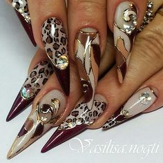 Nice nail art with good colors. - Diy Nagel - Nice nail art with good colors. Black Stiletto Nails, Sexy Nails, Cute Nails, Beautiful Nail Designs, Beautiful Nail Art, Cool Nail Designs, Funky Nails, Trendy Nails, Fabulous Nails