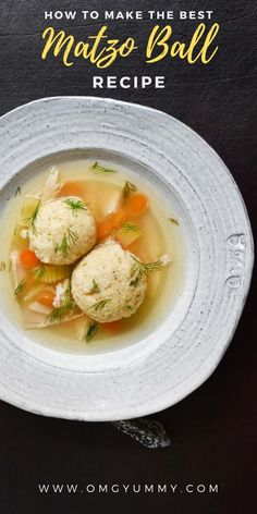 Matzo Ball Soup with Homemade Chicken Stock is a must have recipe for your Jewish Holiday table or anytime warm, comforting soup is a must. This recipe includes all the make ahead options and best tips and tricks. Soup Recipes, Dinner Recipes, Cooking Recipes, Healthy Recipes, Best Matzo Ball Recipe, Matzo Meal, Salisbury Steak Recipes, Homemade Chicken Stock, Baked Chicken Recipes