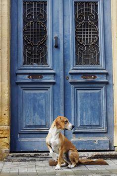 Old blue door, Nicosia, Cyprus