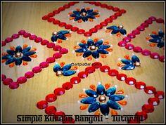 Simple Kundan Rangoli – Rearrangeable Style