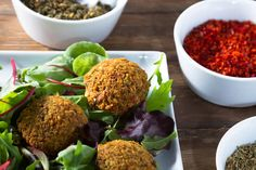 Check out our latest Blender Giveaway!  EASY FALAFEL RECIPE If you're unfamiliar with this Middle Eastern street food, you're in luck! This relatively easy vega