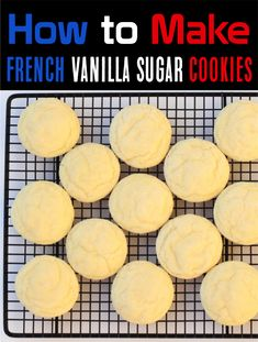 How to Make Sugar Cookies!  Taking just 4 simple ingredients, this tasty dessert recipe is the perfect addition to your menu.  They're versatile, and great to serve for any occasion! Vanilla Cookie Recipe, Sugar Cookie Recipe Easy, Cake Mix Cookie Recipes, Easy Sugar Cookies, Vanilla Cookies, Delicious Cookie Recipes, Twix Cookies, Dessert Recipes, Cookie Desserts