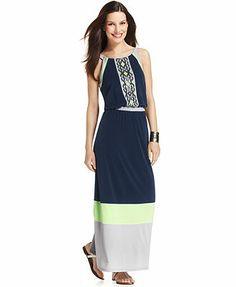Style&co. Intarsia-Print Colorblock Blouson Maxi Dress  Got this dress!!! I love it!!