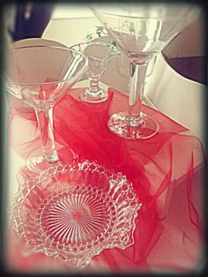 Some of my #glassware for the #sweetcart #candy #cart #party #sweets