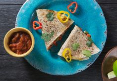 Organic Free-Range Turkey Quesadilla —  This is the adult version of a childhood favorite. The filling of this quesadilla is what sets it apart. Our chefs use the highest quality free-range turkey and combine it with made from scratch salsa and Mexican Spices. We use a gluten-free brown rice tortilla that keeps this dish as healthy as it is delicious. We're confident that this will become one of your favorite Metabolic Meals entrees!