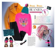 """""""Pom Pom Beanies: Color Burst"""" by cara-mia-mon-cher ❤ liked on Polyvore featuring J.Crew, Kenzo, Topshop, H&M, VBH, NARS Cosmetics and Dolce&Gabbana"""