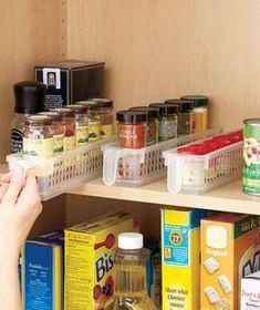 Set of 3 Spice Baskets Kitchen Storage Baskets, Ikea Pantry Storage, Kitchen Spice Storage, Cupboard Storage, Pull Out Kitchen Cabinet, Pantry Baskets, Storage Bins, Storage Cabinets, Kitchen Pantry