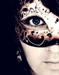 behind the mask | We Heart It | mask, blue, and eye