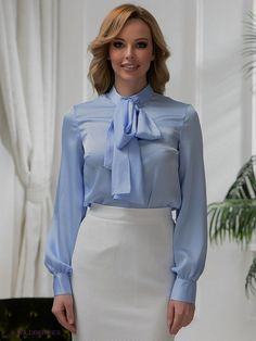 dcf09948a82d55 100 Best Bow Blouse images in 2019