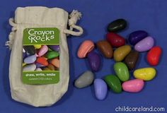 Crayon Rocks - cool product to promote tripod grasp!  Pricey, but very cool (Amazon - http://ht.ly/8soVd)
