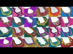 Best 12 25 Beautiful back neck blouse designs 2018 Blouse Neck Patterns, Saree Blouse Neck Designs, Neckline Designs, Designer Blouse Patterns, Dress Neck Designs, Sari Blouse, Blouse Designs Catalogue, Simple Blouse Designs, Stylish Blouse Design