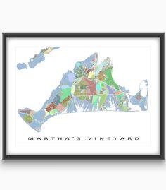 Items similar to Martha's Vineyard Map Print, Martha's Vineyard Massachusetts USA, The Vineyard on Etsy Martha's Vineyard Map, City Block, Massachusetts, Mosaic, Abstract Art, Puzzle, Island, Shapes, Handmade Gifts