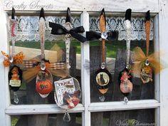 See Vicki Chrisman's Fun Altered Halloween Spoons using Crafty Secrets