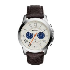 Buy Fossil Men's Grant Chronograph Leather Strap Watch, Brown Eggshell from our Men's Accessories & Watches Offers range at John Lewis & Partners. Rugged Watches, Fossil Watches For Men, Stylish Watches, Luxury Watches, Fossil Leather Watch, Brown Leather Watch, Mens Designer Watches, Walmart, Trends