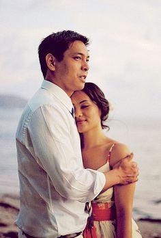 Brides: Wavy Updo for a Beach Wedding