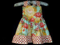Girls Easter Dress  Girls Summer Sundress in by Hopscotchavenue, $43.95