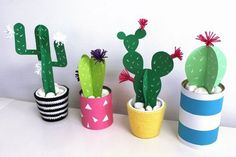 Gallery of cactus de papel missdiy - how to do paper mache Diy And Crafts, Crafts For Kids, Diy Paper Crafts, Cactus Craft, Papier Diy, Paper Plants, Diy Painting, Diy For Kids, Paper Flowers