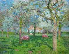 Orchard in spring, 1902 - Emile Claus