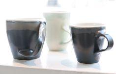 Cups - handthrown ceramic cups made in porcelain clay.  Kopper i håndlavet keramik