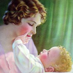 "Mother and Child by Mabel Rollins Harris--beautiful art deco painting. I'm not one to express a lot of ""mushy"" sentiment generally, but this is perfect."