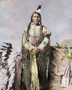 LITTLE-BIG-MAN-NATIVE-AMERICAN-INDIAN-SIOUX-1877-8x10-HAND-COLOR-TINTED-PHOTO