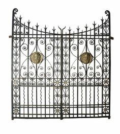 Rose theme wrought iron walk gate has texas star artwork for Architectural salvage fort worth