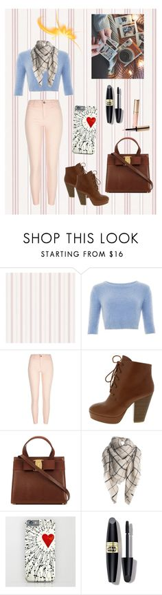 """""""Untitled #388"""" by chrisantal ❤ liked on Polyvore featuring River Island, Max Factor, By Terry, women's clothing, women's fashion, women, female, woman, misses and juniors"""